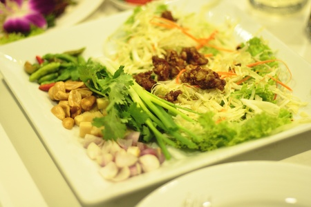 Nam Thai fried chicken is a menu of snacks like steamed. Stock Photo - 8625173