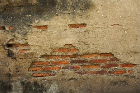Texture of Break the old brick walls inside Stock Photo - 16261473