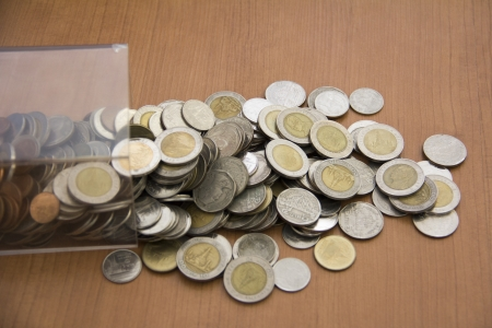 Box and coins photo