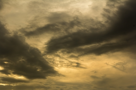 leaden: clouds during sunset