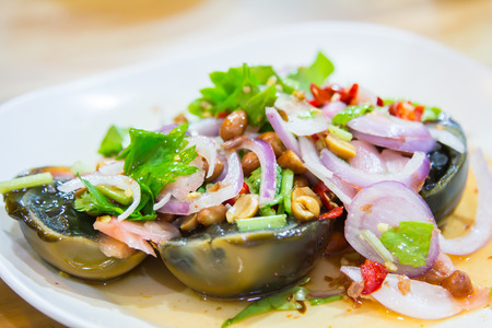 preserved: Preserved egg spicy salad.