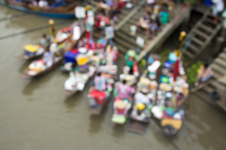 blurr: Blurr the Amphawa floating market.,Thailand.
