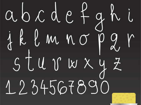 Alphabet on blackboard Vector