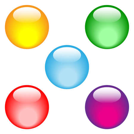 Buttons in vivid colors