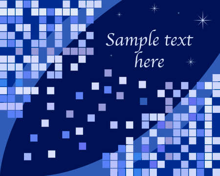 blue retro background Vector