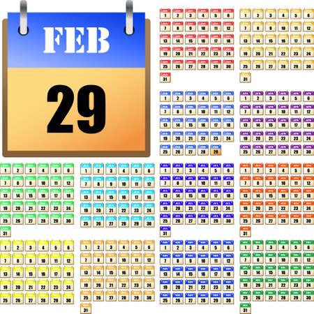 毎年のための普遍的なカレンダー