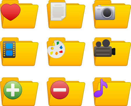 Different folders for multimedia, text, favorites and other files!