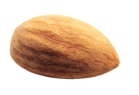 Image of whole almond nut isolated on white background photo