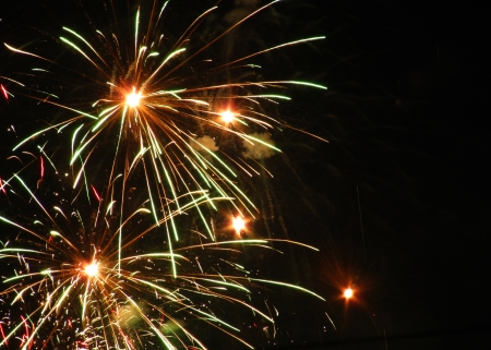 image of firework as background  photo