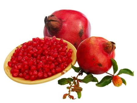 punica granatum: pomegranate  Punica granatum  fruits with seeds