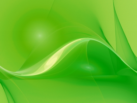 design of abstract smooth green curves as background photo