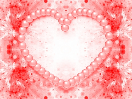 design of valentine day background with heart shape made from pearls photo