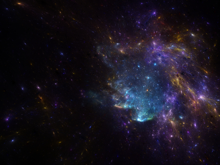 galaxies: deep space image with nebula and galaxies as background and texture for creating space scape.