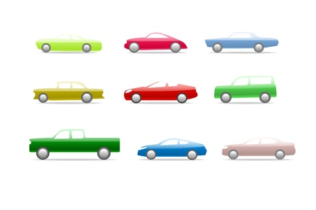Candy car icons  Vector
