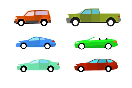 domestic car: Los coches de color