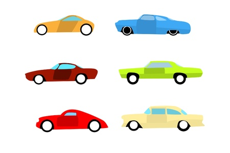Hot rod color cars 2 Vector