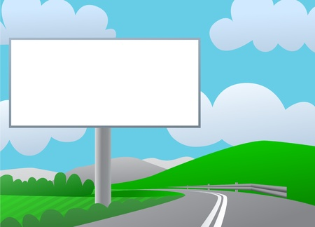 Country billboard Vectores