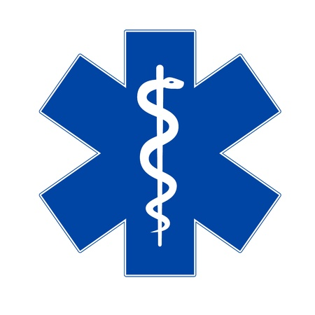 cpr: Emergency medicine symbol asclepius