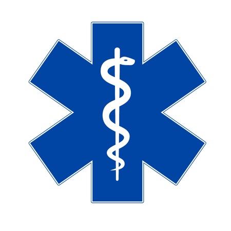 primeros auxilios: Medicina de emergencia s�mbolo de Asclepio Vectores