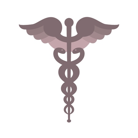 Caduceus symbol Stock Vector - 12363109