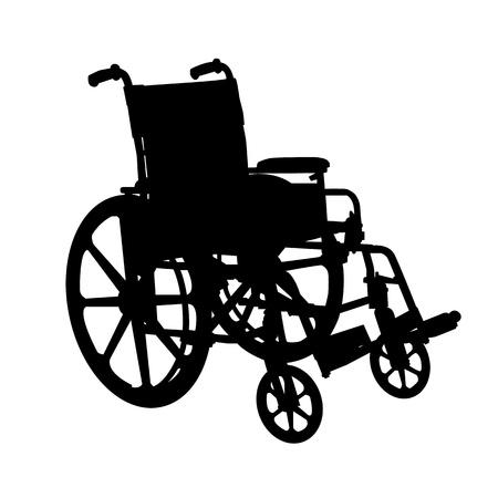 車椅子のシルエット 写真素材
