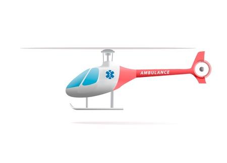 白で隔離されるメデバック ヘリコプター