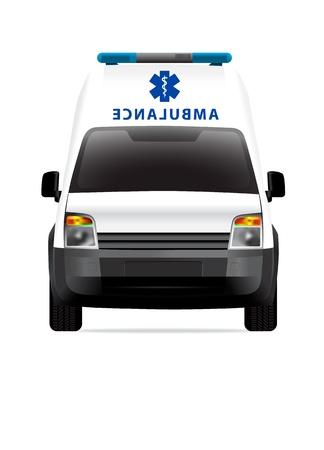 Ambulance car front view Stock Vector - 12363237