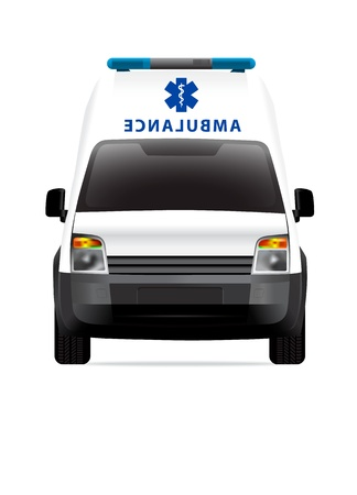Ambulance car front view Stock Vector - 12363237