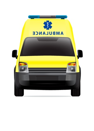 Ambulance car front view Stock Vector - 12363240