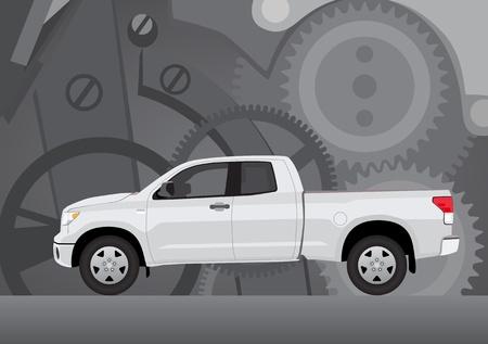 歯車車両の背景と別のレイヤーに、ない透明背景ピックアップ トラック