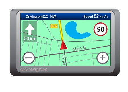 GPS navigation device isolated on white background Stock Vector - 13006314