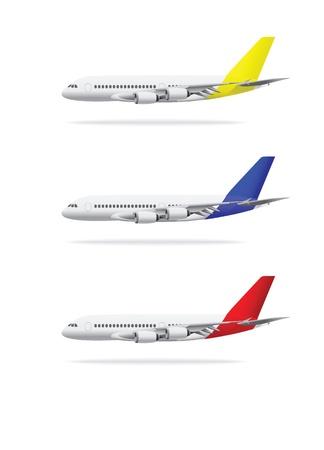 白い背景で隔離の飛行機ベクトル イラスト