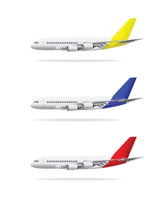 Airplane vector illustration isolated on white background