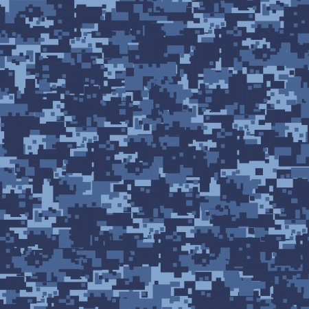 Military blue camouflage seamless pattern