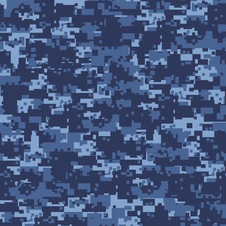 軍事青いカムフラージュのシームレスなパターン 写真素材 - 13535436
