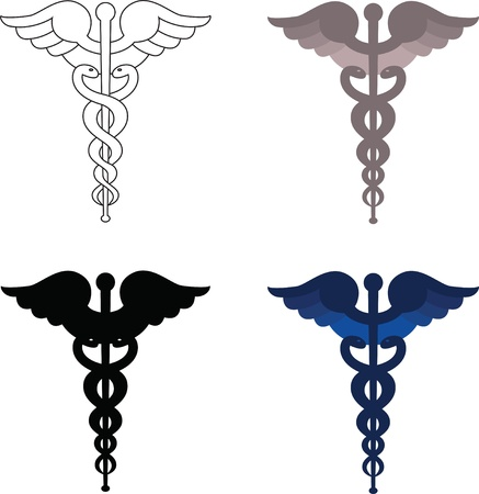 Caduceus signs isolated on white  Stock Photo - 13535427