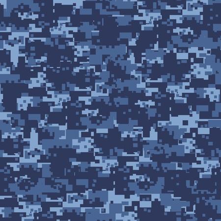 軍事青いカムフラージュのシームレスなパターン 写真素材