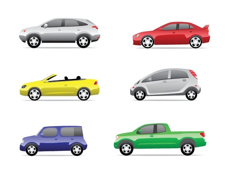 Cars icons set isolated on white background, no transparencies  Stock Photo - 13535443