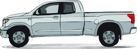 Pick-up truck artistic colors Vector