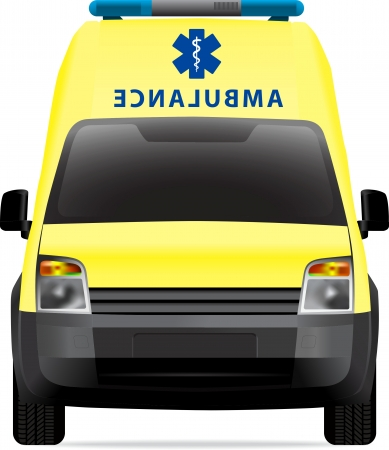 transference: Ambulance car vector illustration