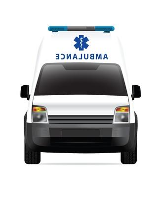 transference: Ambulance car vector illustration