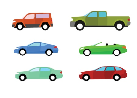 Car icons set isolated on white background Stock Photo - 14553896