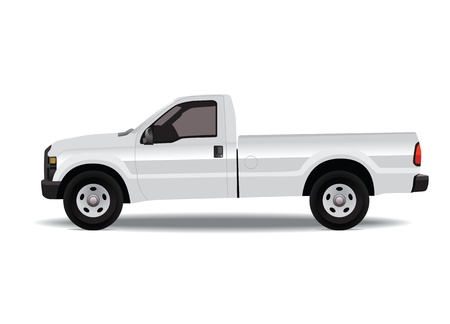 Pick-up truck isolated on white photo