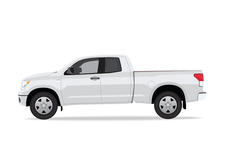 Pick-up truck isolated on white background