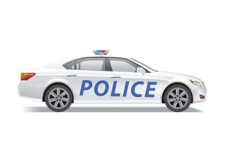 Police car isolated on white background. Stock Photo - 14554032