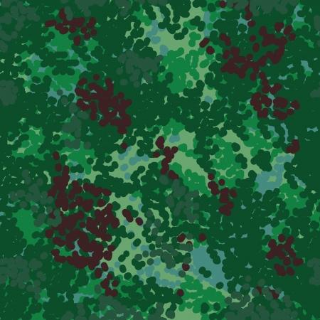 German bundeswehr woods camouflage seamless pattern Vector