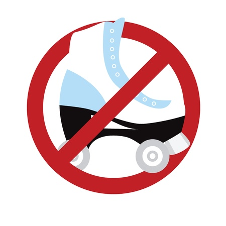 endorsement: No roller skating sign isolated on white.  illustration with simple colors.