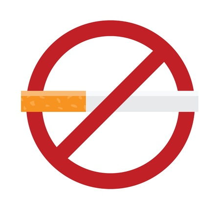 endorsement: No smoking sign isolated on white. illustration with simple colors.