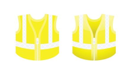 workwear: Protective fluorescent yellow vest
