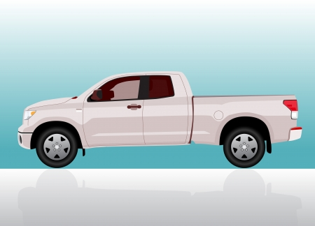 Pick-up truck big on color gradient background. Stock Vector - 14984054